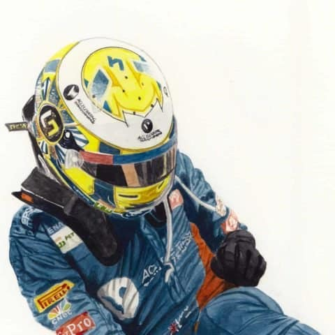 ORIGINAL Lando Norris McLaren F1 Watercolour Painting