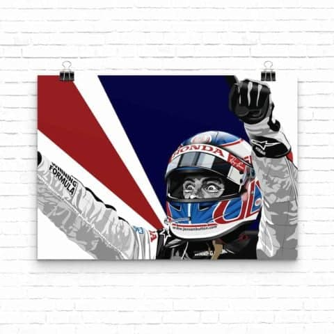 Jenson Button Hungary Win