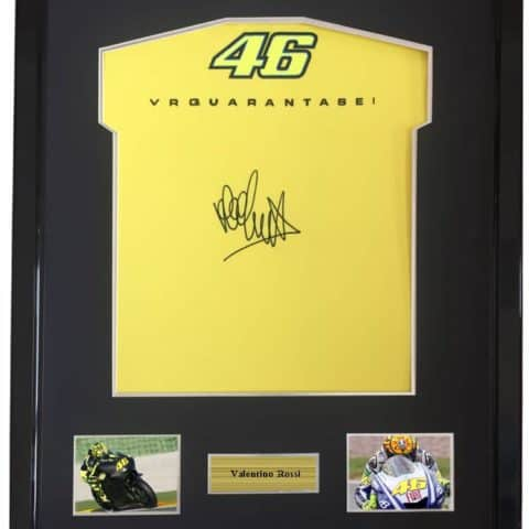 Valentino Rossi Racing Shirt Framed Autographed Signed