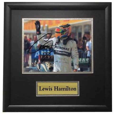 Lewis Hamilton Mercedes Framed Autographed Signed Photo