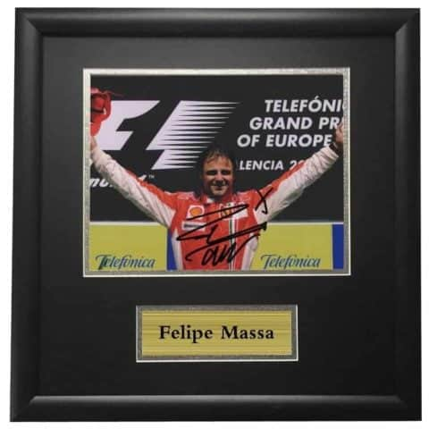 Felipe Massa Ferrari Winning Framed Autographed Signed Photo
