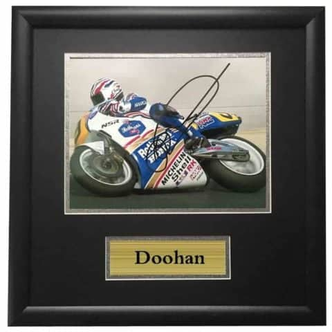 Mike Doohan Autographed Signed Framed Vintage Photo