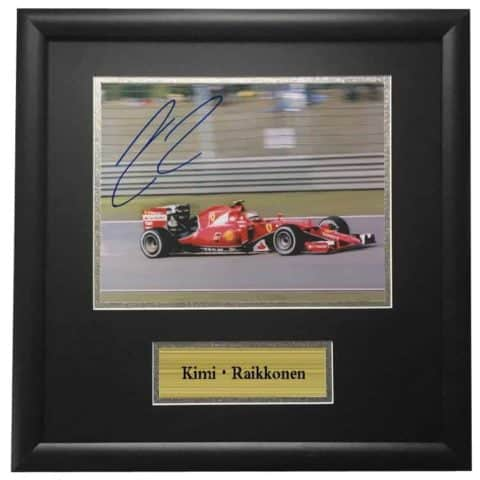Kimi Raikkonen Ferrari Framed Autographed Signed Photo