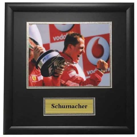 Michael Schumacher Winning Framed Autographed Signed Photo