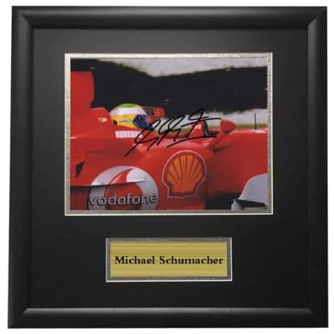 Michael Schumacher Ferrari Framed Autographed Signed Photo