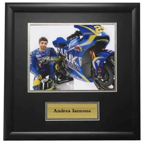 Andrea Iannone Autographed Signed Framed Photo