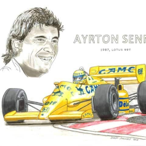 1987 Senna on Lotus, 1 of 1