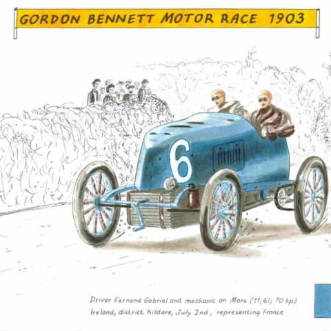1903 Gabriel on Mors in Gordon Bennett motor race, 1 of 1