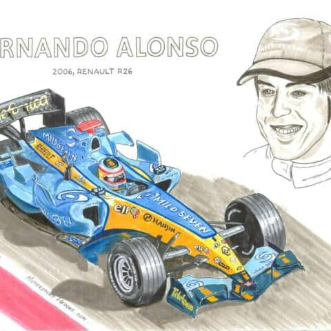 2006 - Alonso on his winning Renault, 1 of 1