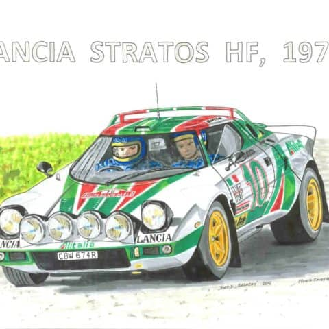 1976 - rally - Lancia Stratos, 1 of 1