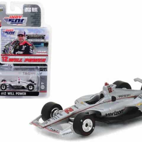 "2018 IndyCar #12 Will Power Team Penske Verizon"" Indianapolis 500 Champion 1/64 Diecast Model Car by Greenlight"""