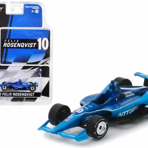 "Honda Dallara Indy Car #10 Felix Rosenqvist NTT Data"" Chip Ganassi Racing 1/64 Diecast Model Car by Greenlight"""