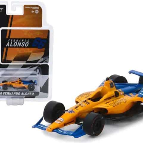 "Dallara Indy Car #66 Fernando Alonso Dell Technologies Mindmaze ""McLaren Racing 1/64 Diecast Model Car by Greenlight"""