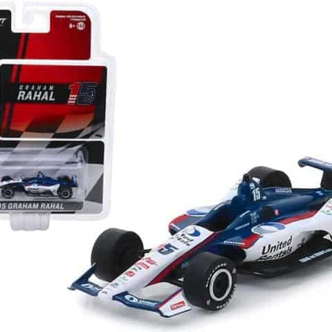 "Honda Dallara Indy Car #15 Graham Rahal United Rentals"" Rahal Letterman Lanigan Racing 1/64 Diecast Model Car by Greenlight"""