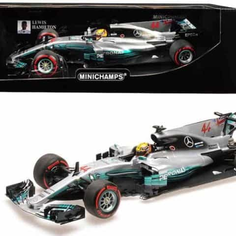 Mercedes AMG Petronas Motorsport #44 Lewis Hamilton Mexican GP 2017 Formula 1 Team F1 W08 EQ Power 1/18 Diecast Model Car by Minichamps