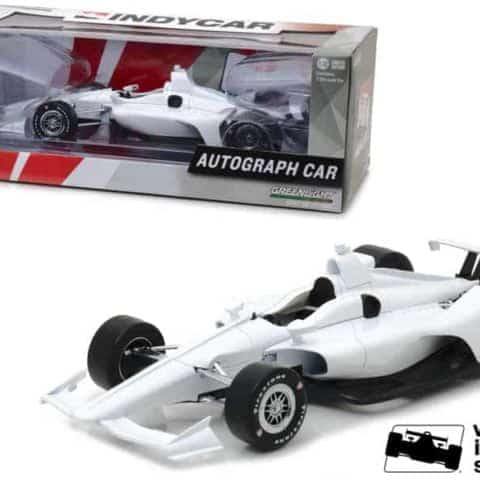 "2018 Dallara White Autograph Indy Car Verizon Indycar Series"" 1/18 Diecast Model Car by Greenlight"""
