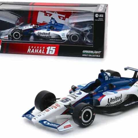 "Honda Dallara Indy Car #15 Graham Rahal United Rentals"" Rahal Letterman Lanigan Racing 1/18 Diecast Model Car by Greenlight"""