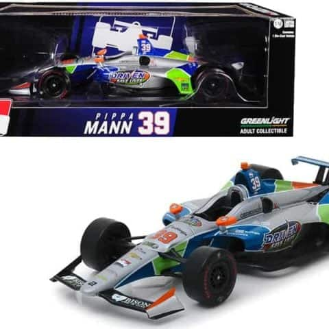 "Dallara Indy Car #39 Pippa Mann Driven 2 Save Lives"" Clauson-Marshall Racing 1/18 Diecast Model Car by Greenlight"""