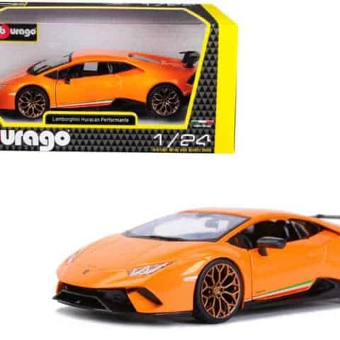 Lamborghini Huracan Performante Metallic Orange 1/24 Diecast Model Car by Bburago
