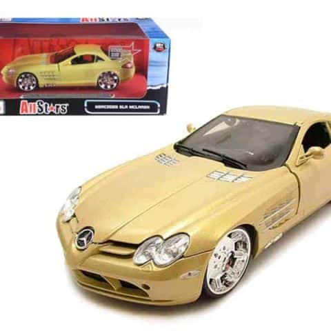 "Mercedes Mclaren SLR Gold All Stars"" 1/18 Diecast Model Car by Maisto"""