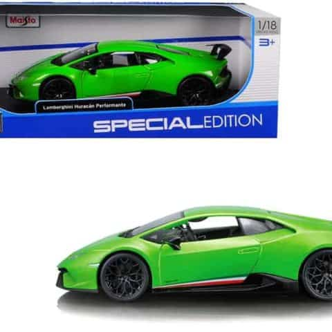 Lamborghini Huracan Performante Metallic Green 1/18 Diecast Model Car by Maisto