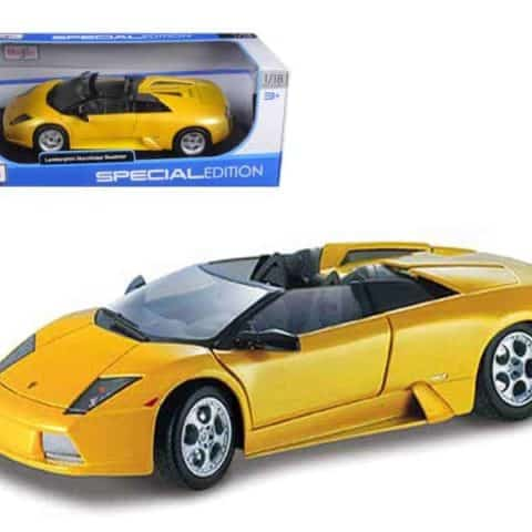 Lamborghini Murcielago Roadster Yellow 1/18 Diecast Model Car by Maisto