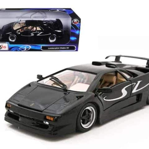 Lamborghini Diablo SV Black 1/18 Diecast Model Car by Maisto