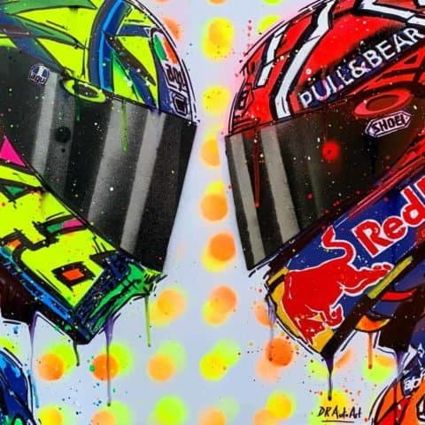 Rossi vs Marquez # 4 - Graffiti Painting