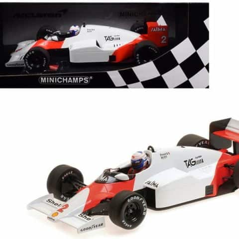 McLaren TAG MP4/2B #2 Alain Prost World Champion (1985) 1/18 Diecast Model Car by Minichamps