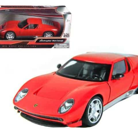 Lamborghini Miura Concept Red 1/24 Diecast Car Model by Motormax