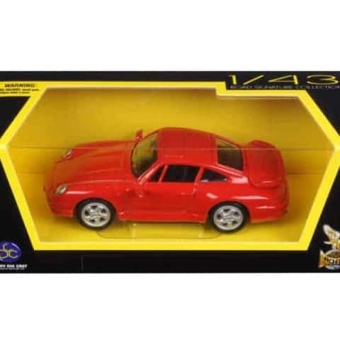 1996 Porsche 911 Turbo Red 1/43 Diecast Model Car by Road Signature