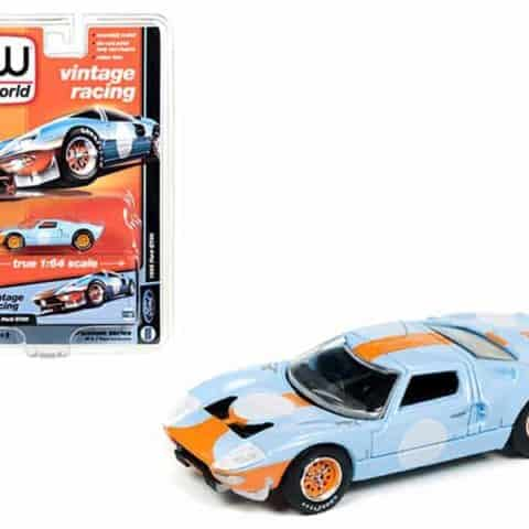 1965 Ford GT40 Vintage Racing 1/64 Diecast Model Car by Autoworld