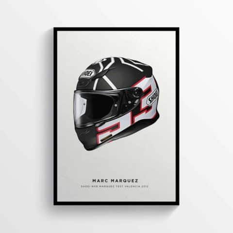 Marc Marquez Valencia 2019 MM93 Helmet Moto GP Motorcycle Poster Motorbike Poster