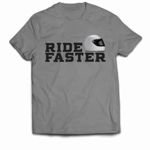 Ride Faster Grey Helmet T-shirt (Grey)
