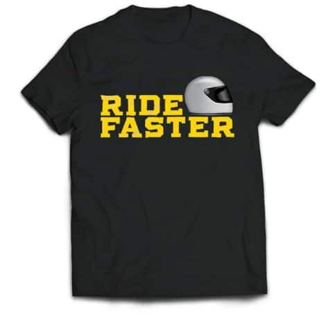Ride Faster Grey Helmet T-shirt (Black)