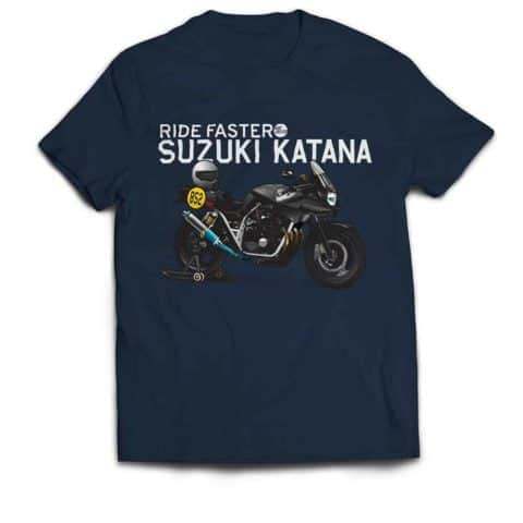 Ride Faster Suzuki Katana T-shirt (Blue)
