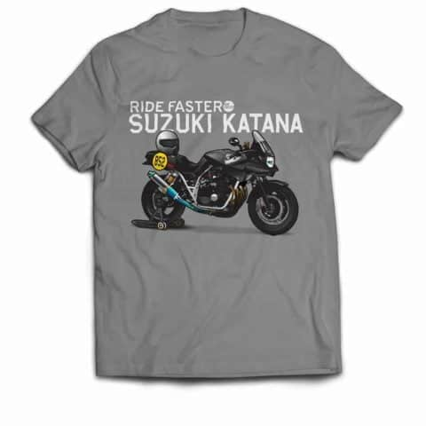 Ride Faster Suzuki Katana T-shirt (Grey)