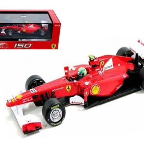 Ferrari F2011 150 Italia #6 Felipe Massa 2011 1/43 Diecast Car Model by Hotwheels