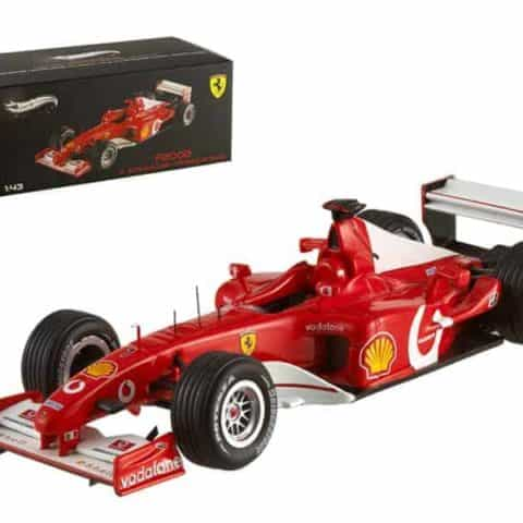 Ferrari F2002 Michael Schumacher France GP 2002 Elite Edition 1/43 Diecast Model Car by Hotwheels