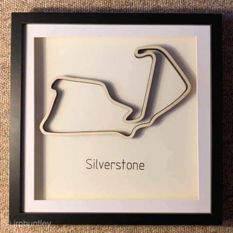 Framed F1 Track Art - Silverstone - British GP