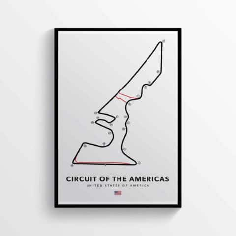 Circuit of the Americas, American Grand Prix, Formula 1, MotoGP Racing Track Poster