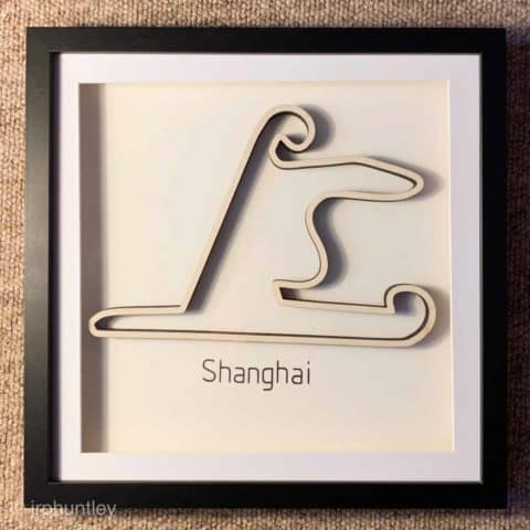 Framed F1 Track Art - Shanghai - Chinese GP