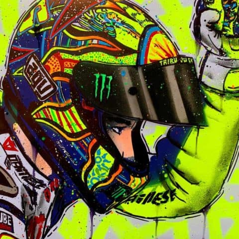 Valentino Rossi - 5 Continents #4 - Graffiti painting