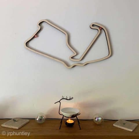 Laser Cut F1 Track Art - Medium