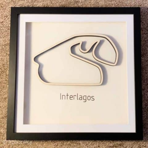 Framed F1 Track Art - Interlagos - Brazilian GP