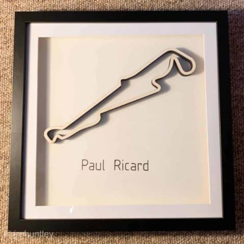 Framed F1 Track Art - Paul Ricard - French GP