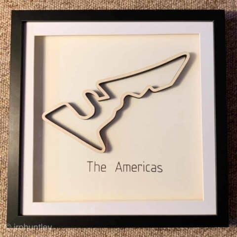 Framed F1 Track Art - The Americas - USA GP
