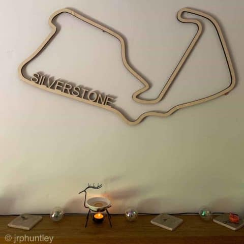 Laser Cut F1 Track Art - Large with name