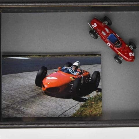 (SOLD) Framed model of Ferrari 156
