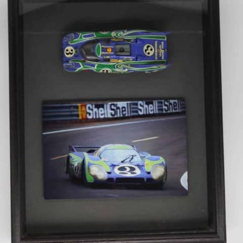 SOLD! Framed Porsche 917 model